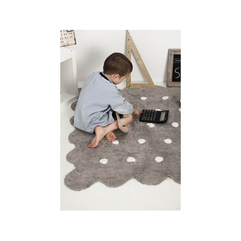Alfombra lavable galleta gris lorena canals white woodhome - Alfombra lavable lavadora ...